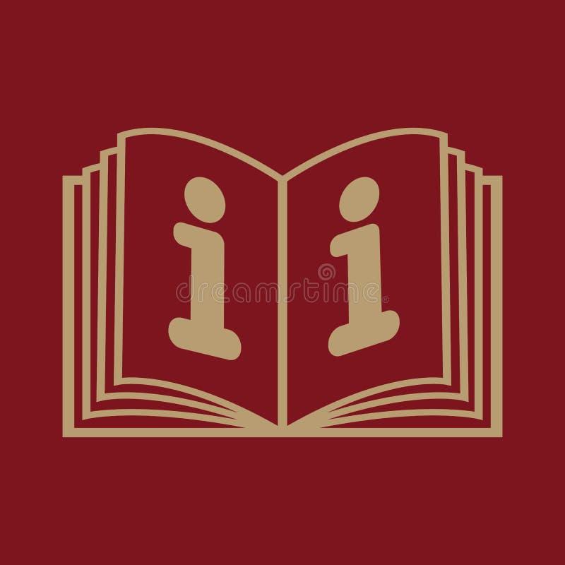 Den öppna boksymbolen Manuellt och orubbligt, anvisning, encyklopedisymbol plant vektor illustrationer