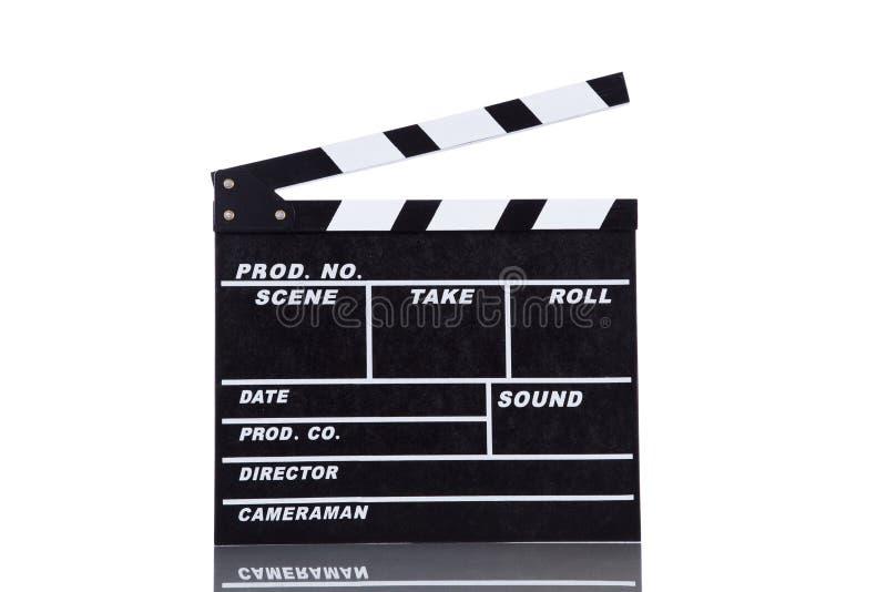 Filmclapperen stiger ombord royaltyfri foto