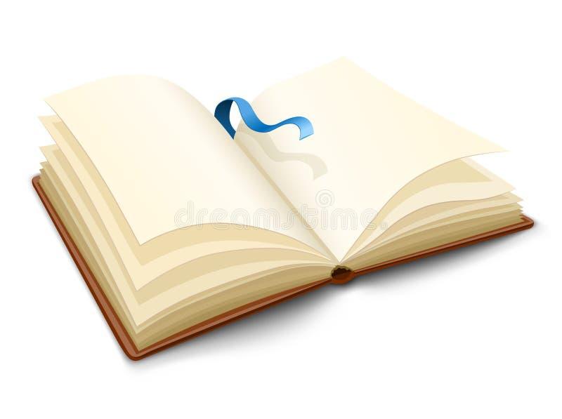 den öppnade blanka boken pages vektorn stock illustrationer