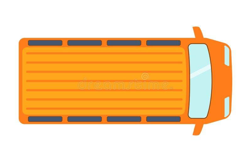 Den över huvudet bästa sikten på det färgrika taket för trafik för designen för transport för bilen för billeksakuppsamlingen och royaltyfri illustrationer