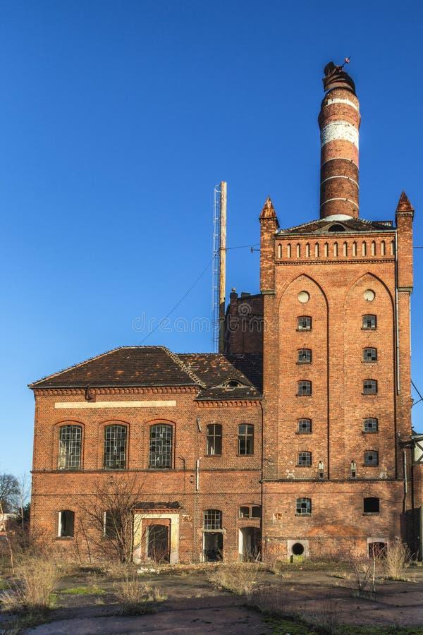 Den övergav fabriken arkivbild