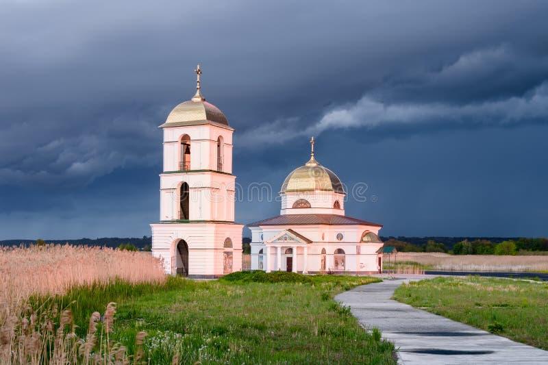 Den översvämmade kyrkan royaltyfri foto