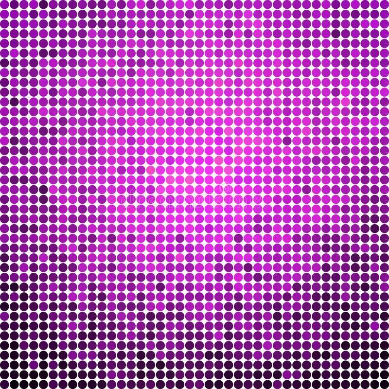 Den abstrakt begrepp färgade rundan pricker bakgrund royaltyfri illustrationer