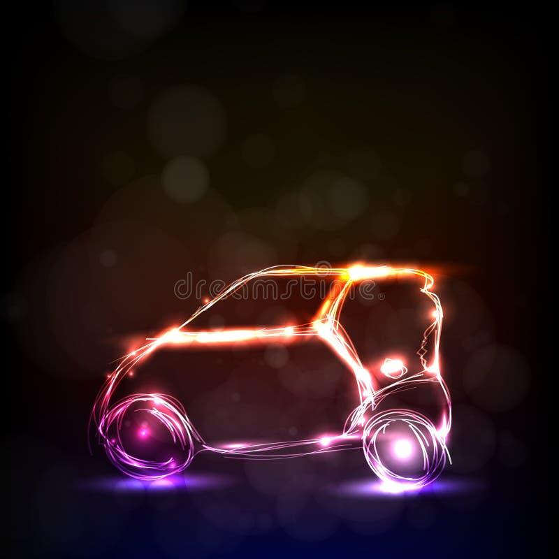 Den abstrakt bilen modellerar stock illustrationer