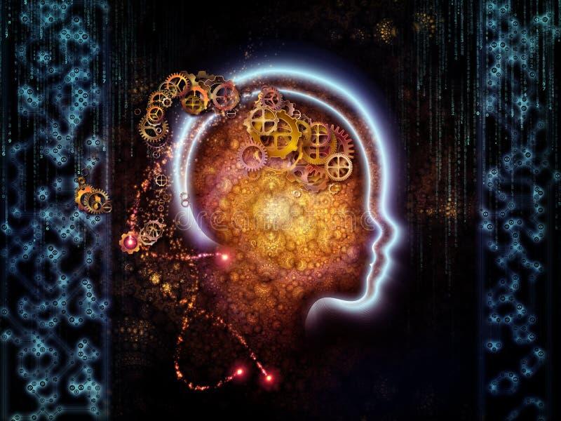 Bildlig människateknologi stock illustrationer