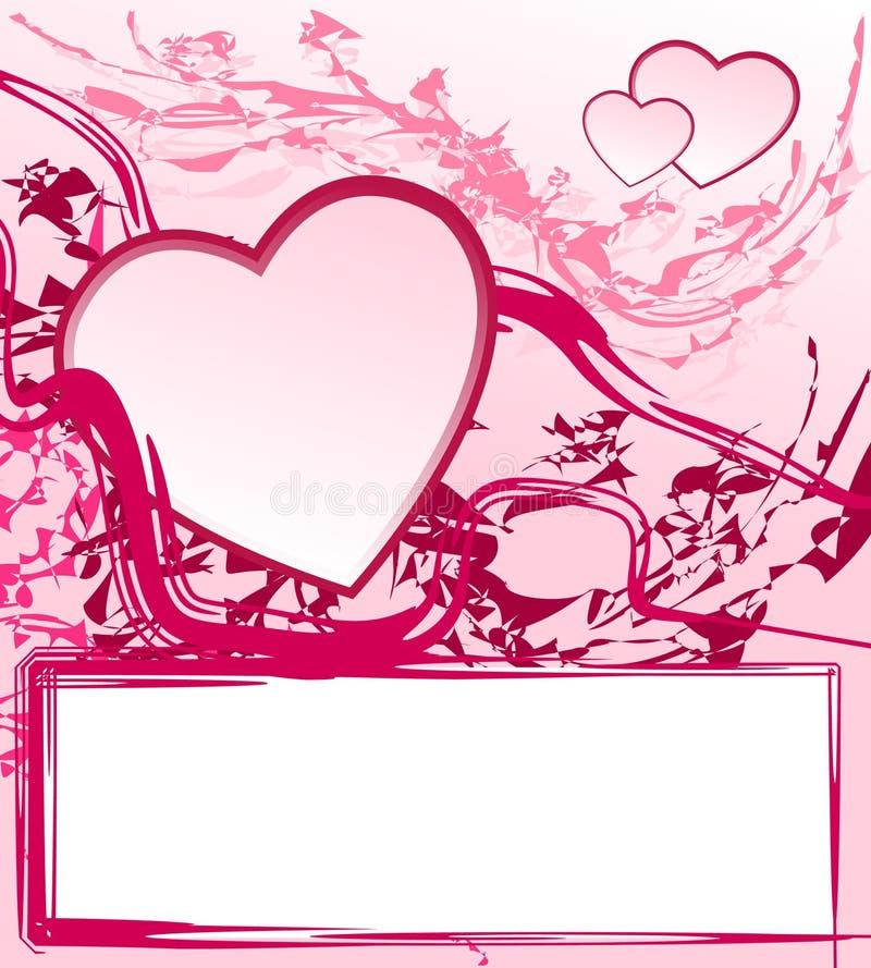 Den abstrakt valentinen inramar royaltyfri fotografi