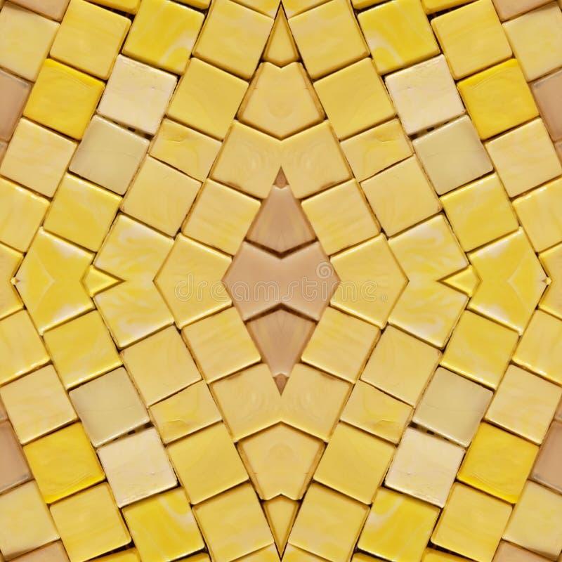 den abstrakta collagedesignen från en bild av marmorerar stycken i gula färger, bakgrund och textur vektor illustrationer