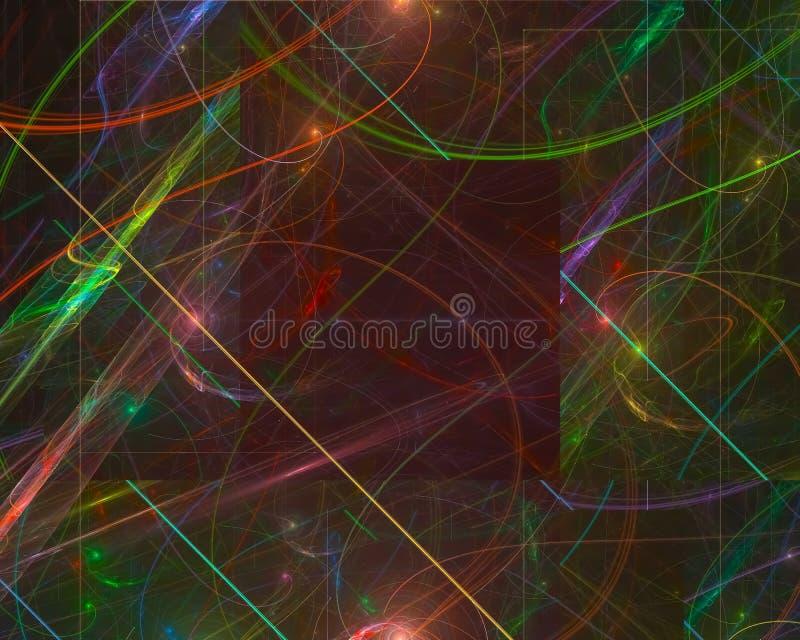 Den abstrakta fractalen, flödesfantasi framför för fantasielegans för virveln den vibrerande magiska prydnaden för fantasi för de stock illustrationer