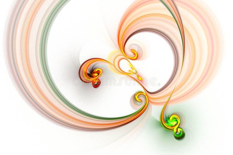 Den abstrakta fractalen illustrerade den bakgrund framförda tapeten royaltyfri illustrationer