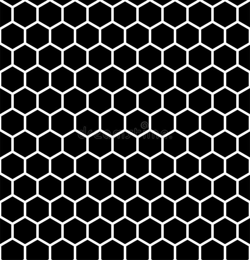 Den abstrakta geometriska modellen med band, linjer, kvadrerar seamless vektor för bakgrund Svartvit gallertextur vektor illustrationer