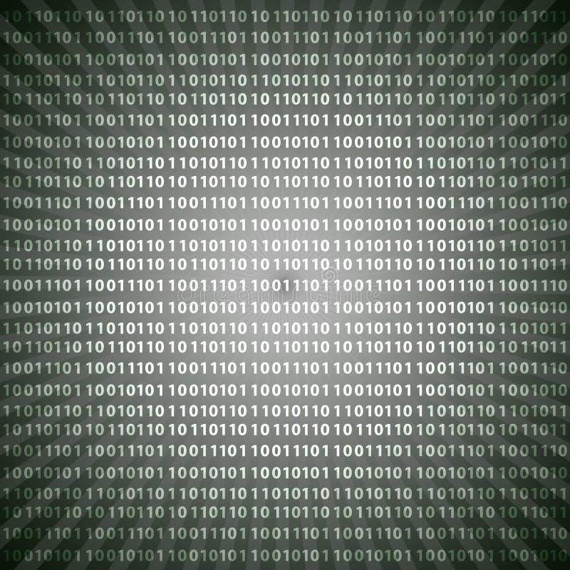 Den abstrakta gråtonen för siffror för den binära koden för mystiker fodrar bakgrund eps10 royaltyfri illustrationer