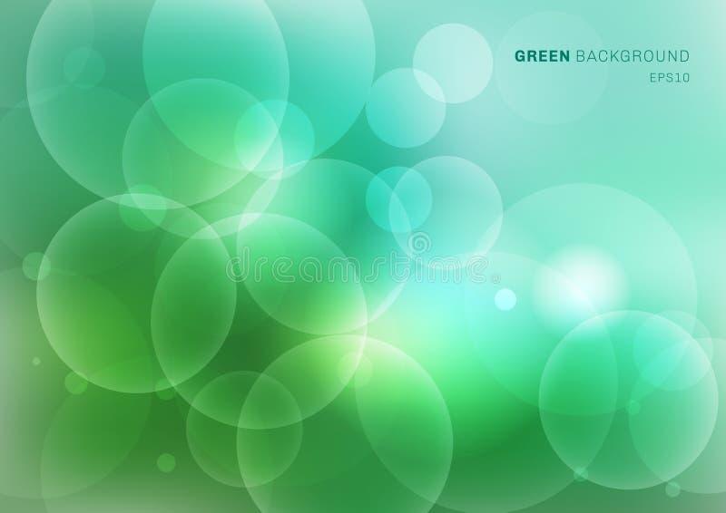 Den abstrakta gröna naturen gjorde suddig härlig bakgrund med bokehljus Ljus naturlig bakgrundsuddighet royaltyfri illustrationer