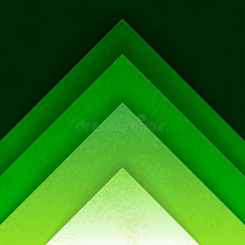 Den abstrakta gröna triangeln formar bakgrund stock illustrationer