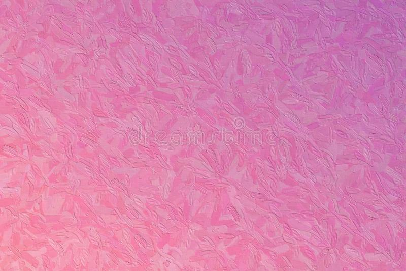Den abstrakta illustrationen av pärl- lilor och papegojan rosa Impasto med den stora borsten slår bakgrund som frambrings digital arkivbild
