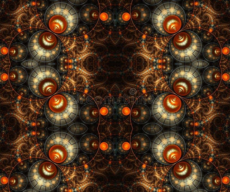 Den abstrakta konstnärliga datoren 3d frambragte fractalsmodellkonstverk för idérik design stock illustrationer