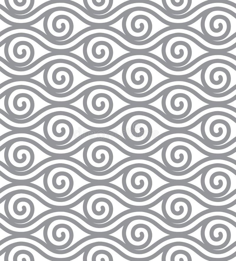 Den abstrakta linjen vektor illustrerar Sömlös tapet för beståndsdel vektor illustrationer