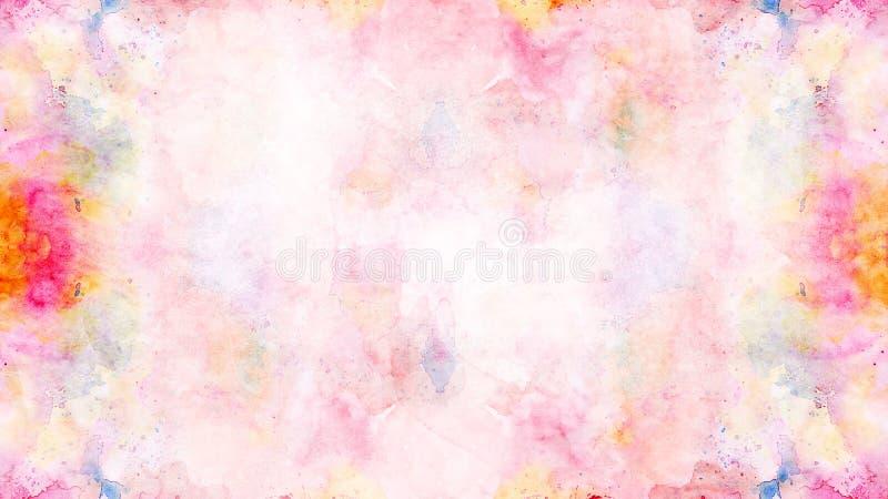 Den abstrakta mjuka färgrika vattenfärgen målade bakgrund royaltyfri foto