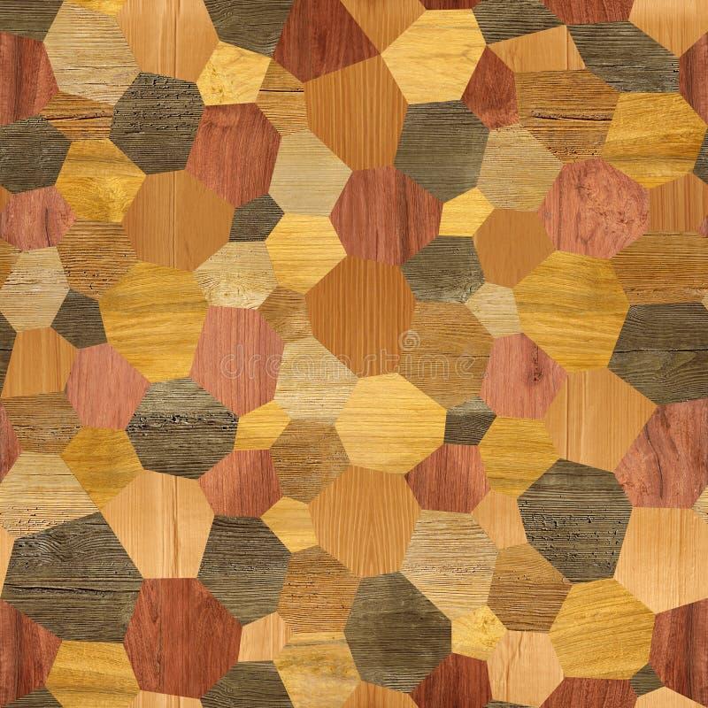 Den abstrakta panelmodellen - sömlös bakgrund - plätera golvet stock illustrationer