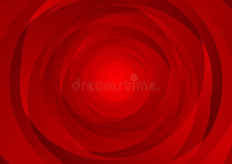Den abstrakta röda virveln cirklar företags bakgrund för tech stock illustrationer