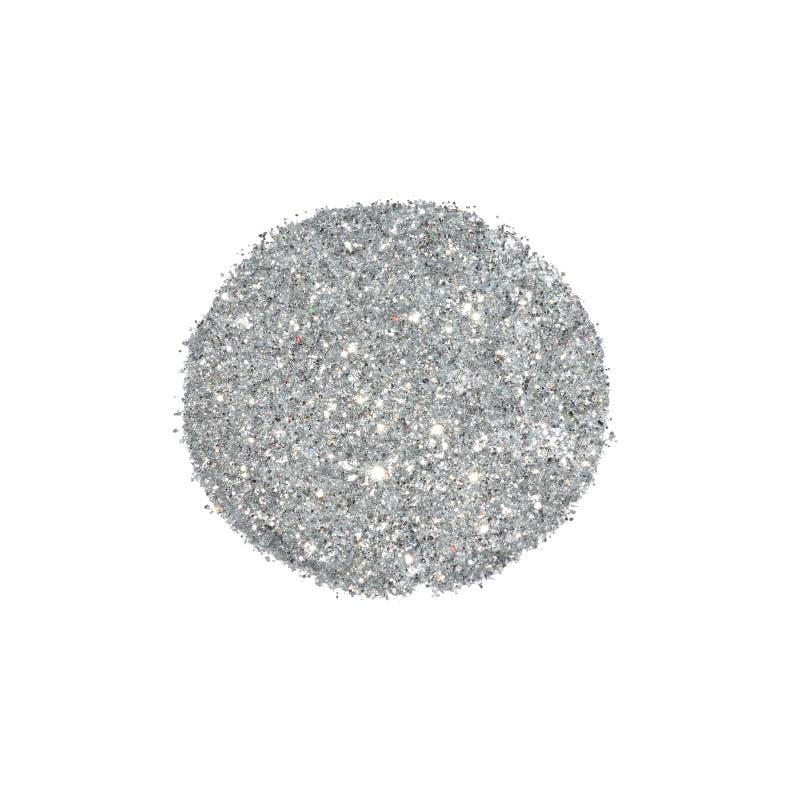 Den abstrakta rundan av silver blänker gnistrandet på vit bakgrund för din design royaltyfria bilder
