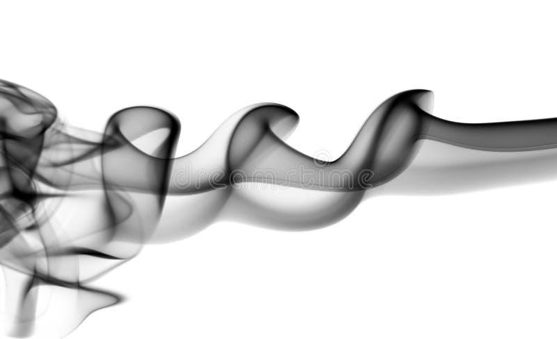 Den abstrakta svarta dunsten vinkar på vit arkivfoton