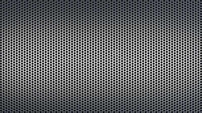 Den abstrakta texturerade modellen med industriell bakgrund för runda hål förvred vektor illustrationer