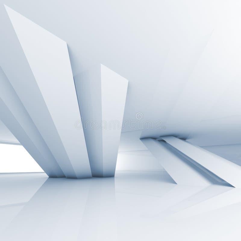 Den abstrakta tomma inre för vitt rum, 3d framför stock illustrationer