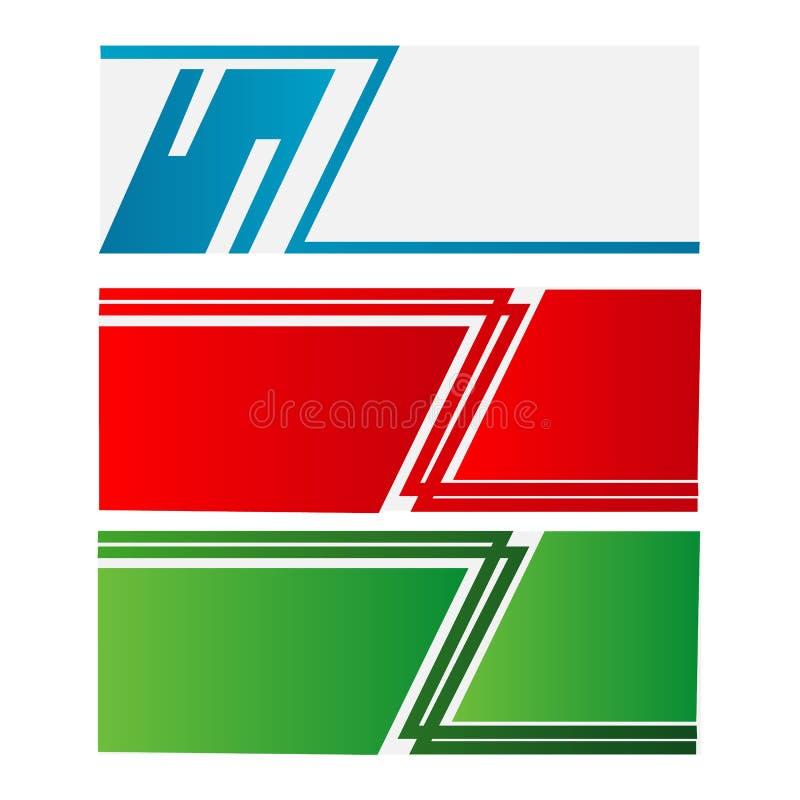 den abstrakta vektorn för mallen för designbanerrengöringsduken med röd gräsplan och blått färgar isolerad bakgrund vektor illustrationer