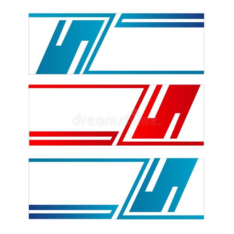 Den abstrakta vektorn för mallen för designbanerrengöringsduken med röd och blå färg isolerade bakgrund vektor illustrationer