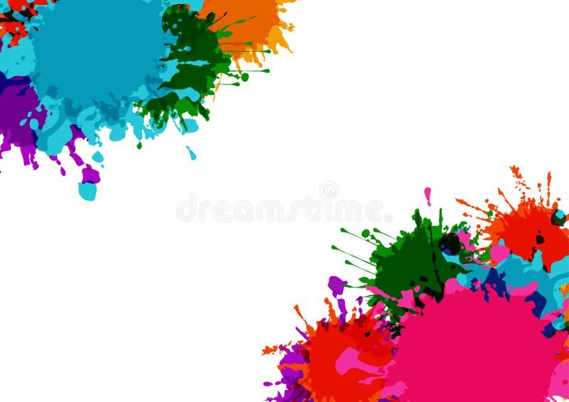 den abstrakta vektorn plaskar f?rgrik bakgrundsdesign Illustrationvektordesign stock illustrationer