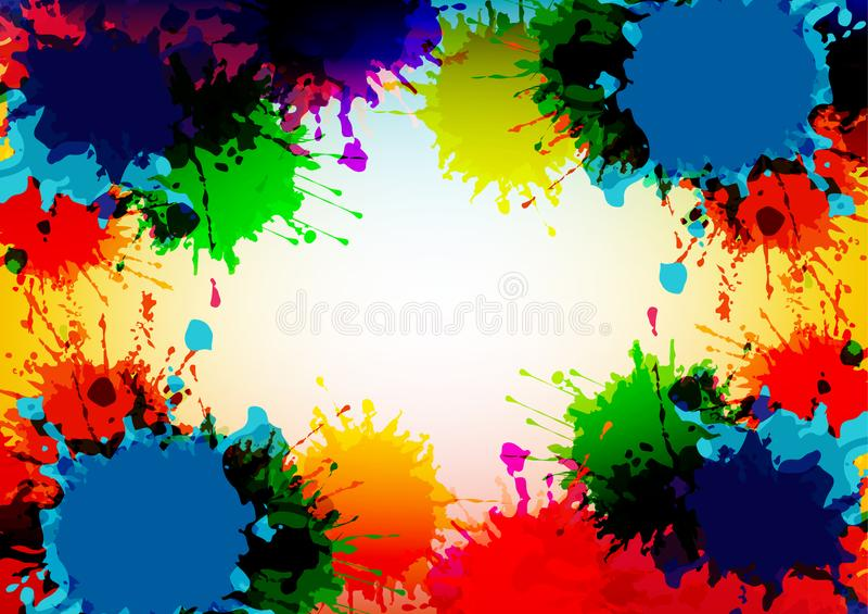 den abstrakta vektorn plaskar f?rgrik bakgrundsdesign Illustrationvektordesign vektor illustrationer