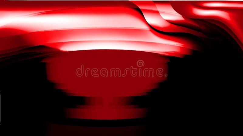 Den abstrakta vektorn som var röd med svarta skuggade fåglar för illustrationen för vektorn för kurvan för bakgrundstapeten släta stock illustrationer