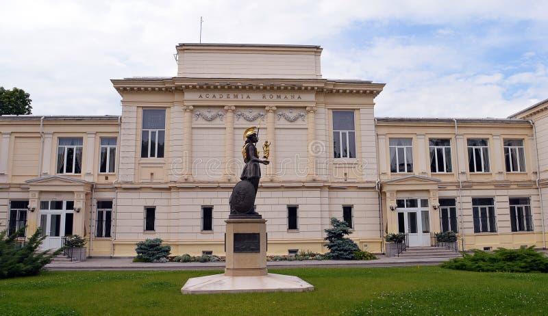 Den akademiska världen Romana, den rumänska akademin, Bucharest, Rumänien arkivbild