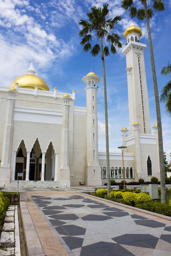 den ali brunei moskén omar saifuddien sultanen fotografering för bildbyråer