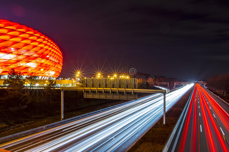Den Allianz arenan royaltyfri foto