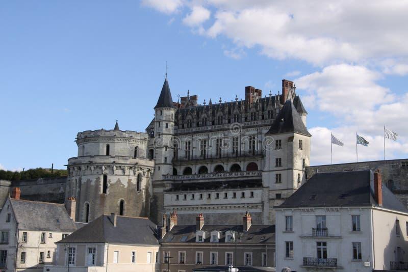 Den Amboise slotten arkivbild