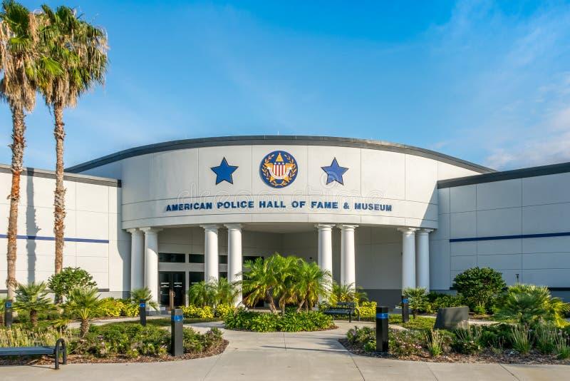 Den amerikanska polisen Hall av berömmelse & museet royaltyfria bilder