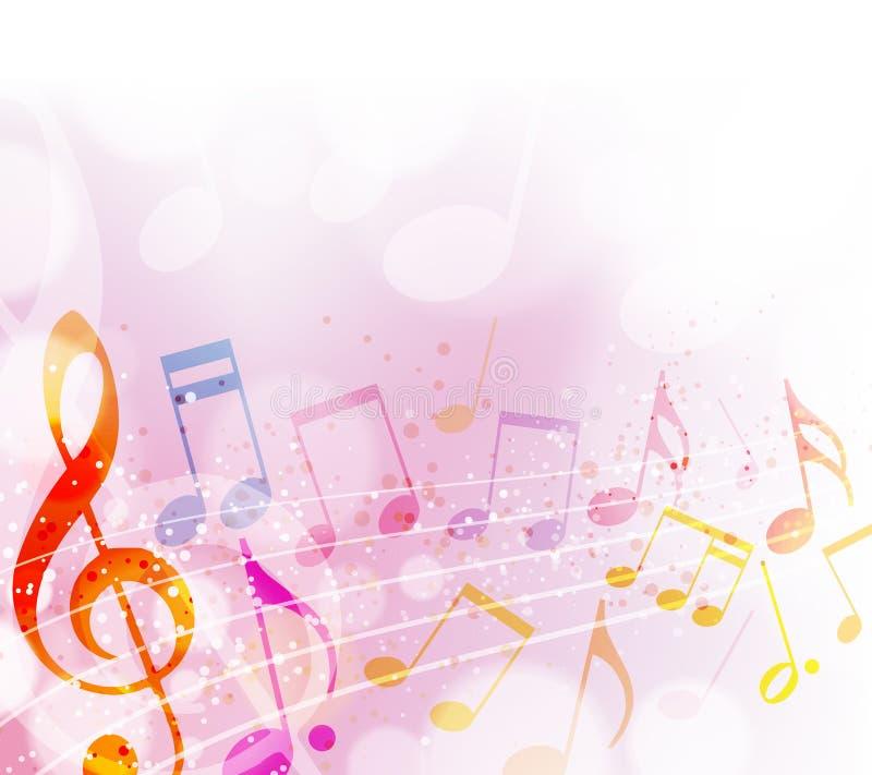 den anslags- instrumentmusikalen bemärker spelrum royaltyfri illustrationer