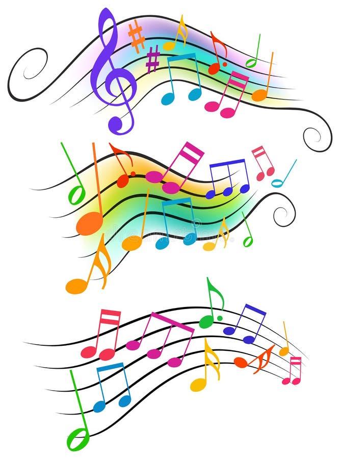 den anslags- instrumentmusikalen bemärker spelrum stock illustrationer