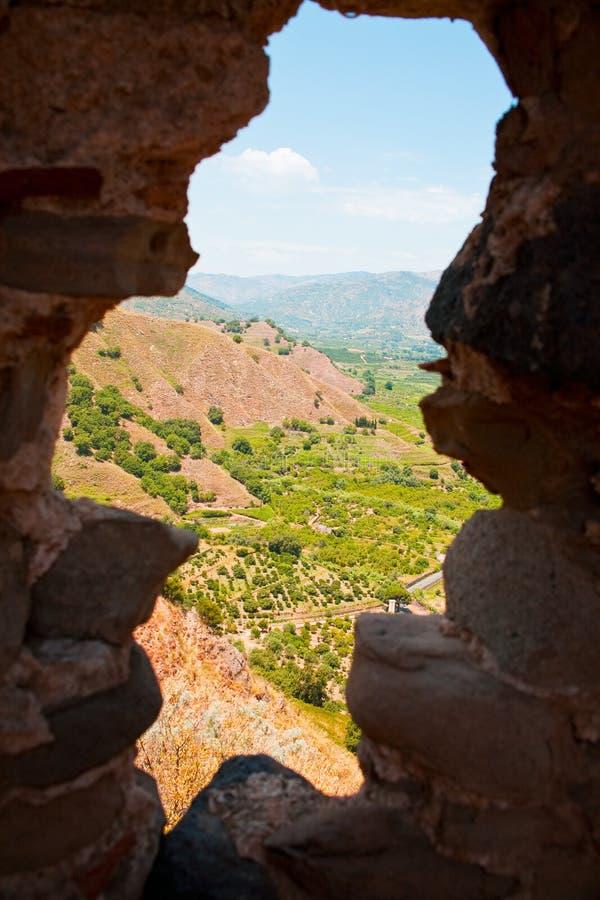den arabiska fästningen landar nära norman sikt arkivbilder