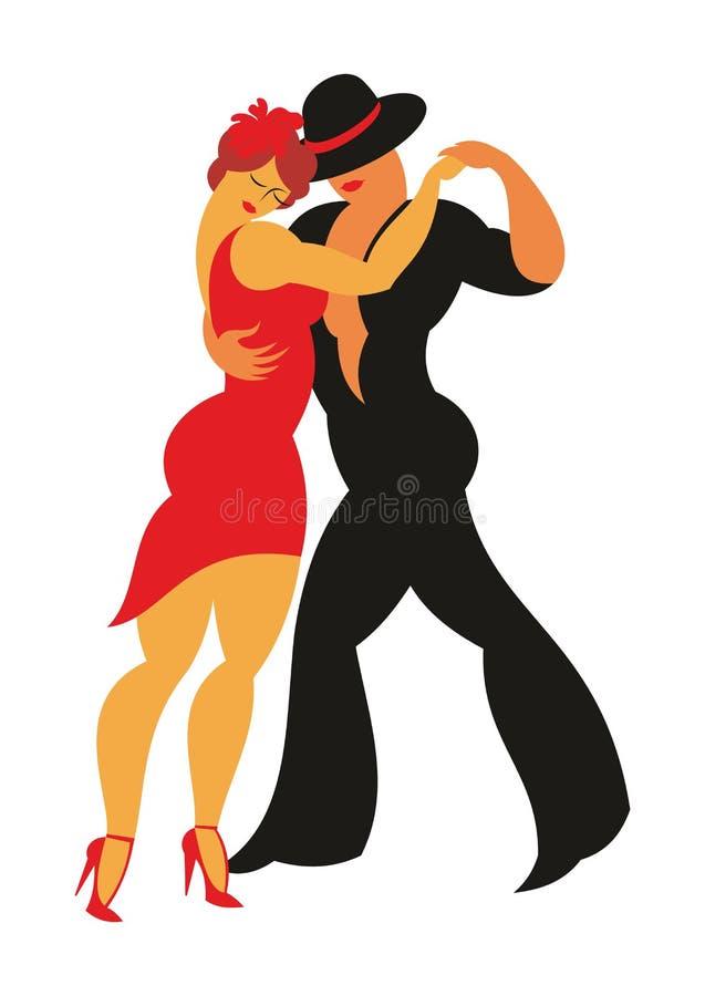 Den Argentinean tango vektor illustrationer