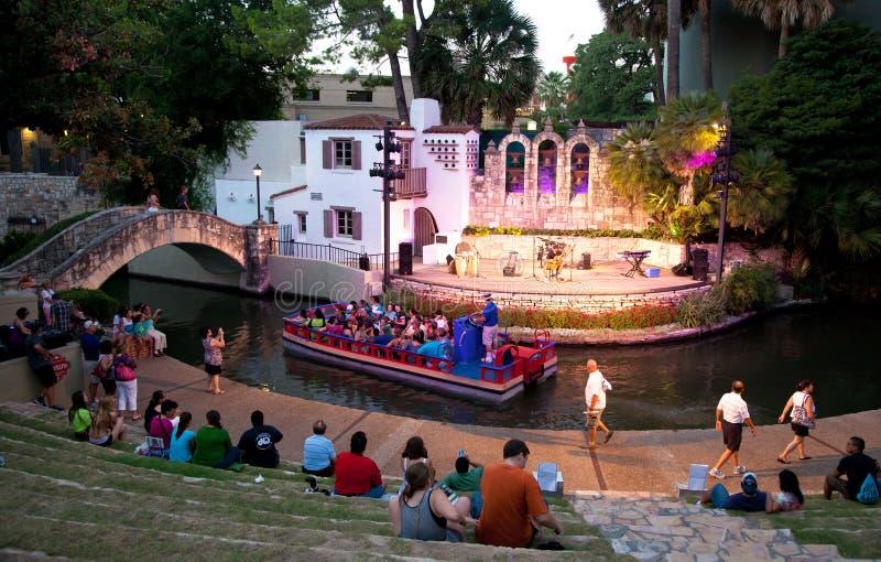 San Antonio Riverwalk teater royaltyfri foto
