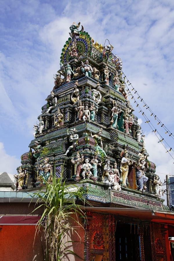 Den Arulmigu Sri Rajakaliamman exponeringsglastemplet i Johor Bahru, Malaysia royaltyfri bild