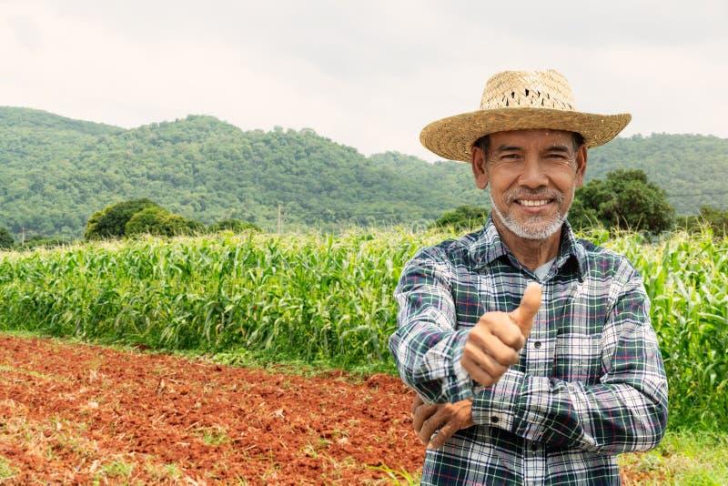 Den asiatiska bondevisningen tummar upp arkivfoton