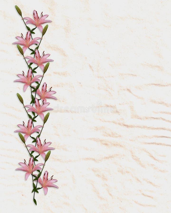 den asiatiska kanten blommar liljapappersrice stock illustrationer