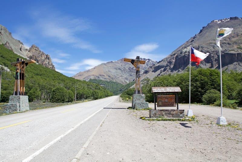 Den Austral Carreteraen, Chile royaltyfria foton