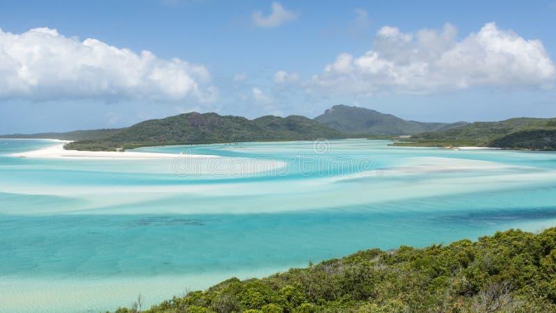 den Australien stranden whitehaven royaltyfria bilder