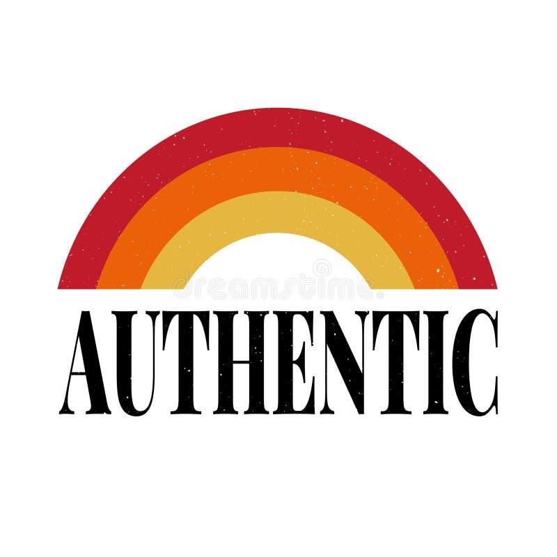 Den autentiska slogan med guld blänker för skjorta för mode t vektor illustrationer