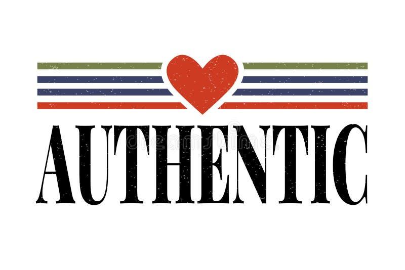Den autentiska slogan med guld blänker för skjorta för mode t royaltyfri illustrationer