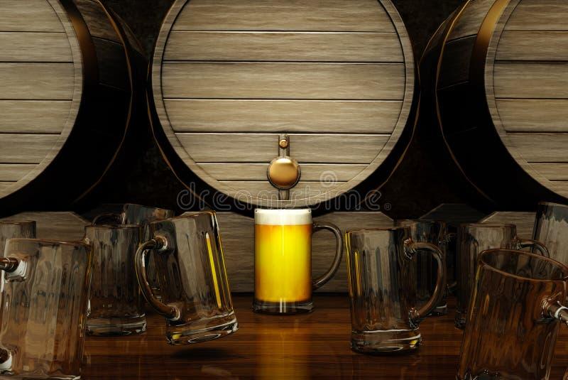 Den bäst ölen vektor illustrationer